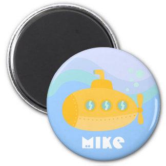Adorable Yellow Submarine Submerged Underwater Magnet