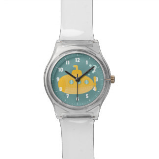 Adorable Yellow Submarine with bubbles for kids Wrist Watch
