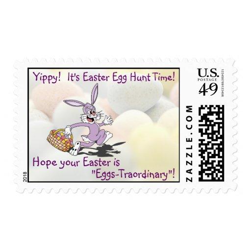 ¡Adorable - Yippy! Es hora para una caza del huevo Estampilla