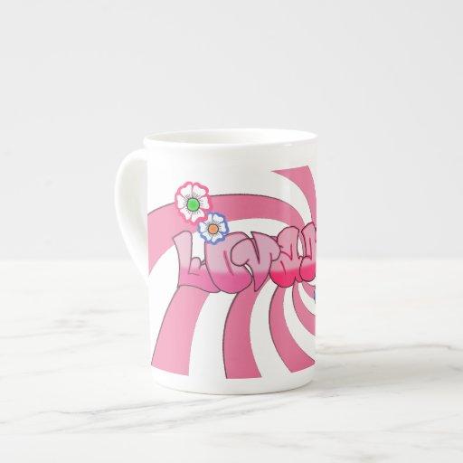 Adorable yo taza de la porcelana de hueso taza de china