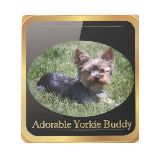 Adorable Yorkie Buddy Gifts Notepad