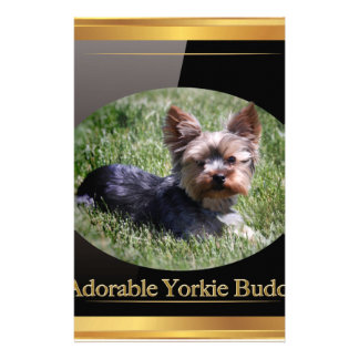 Adorable Yorkie Buddy Gifts Stationery