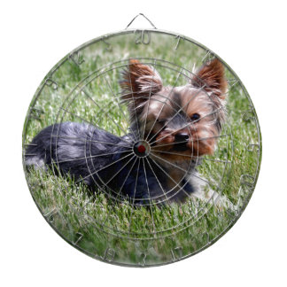 Adorable Yorkie Multiple Products Selected Dartboard With Darts