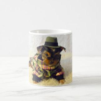 Adorable Yorkie Puppy Coffee Mug