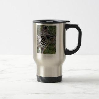 Adorable zebra on travel mug