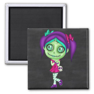 Adorable Zombie Girl Magnet