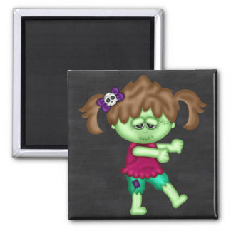 Adorable Zombie Girl Refrigerator Magnets