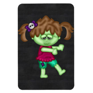 Adorable Zombie Girl Rectangle Magnets