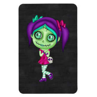 Adorable Zombie Girl Rectangle Magnet