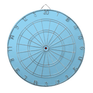 Adorably Cuddly Blue Color Dartboard With Darts