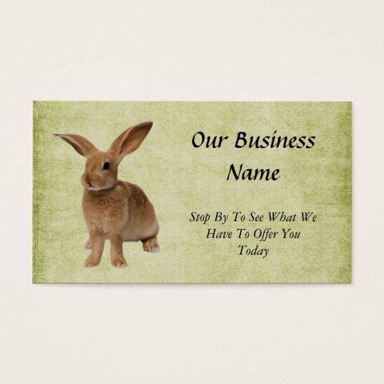 Adorably Cute- Floppy Bunny- Biz Card