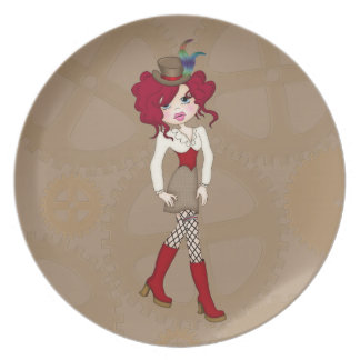 Adorably Cute Little Steampunk Siren Party Plates