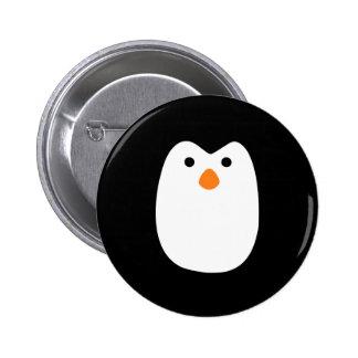 adorably cute penguin face button