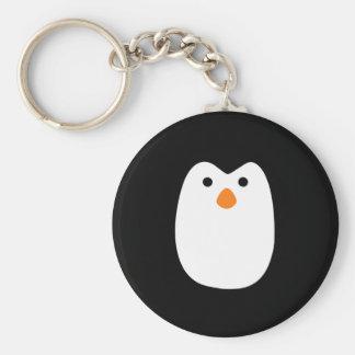 adorably cute penguin face keychain