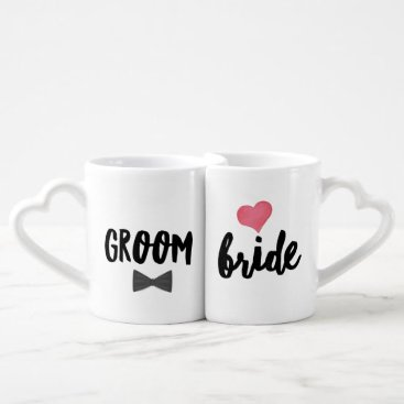 Bride Themed Adorably in Love Bride and Groom Coffee Mug Set