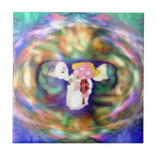Adoración Angel´´ de Keramik Fliese `` Azulejo Cuadrado Pequeño