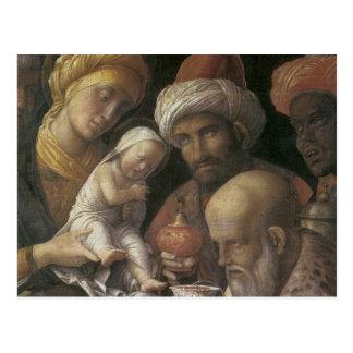 Adoración de Andrea Mantegna de unos de los reyes Postales