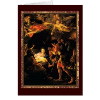 Adoración de la tarjeta de los pastores