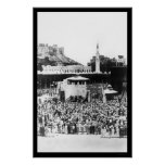 Adoración de los musulmanes en La Meca Arabia en 1 Posters