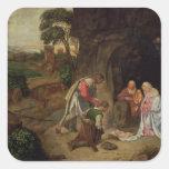 Adoración de los pastores, 1510 pegatinas cuadradases personalizadas