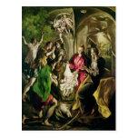 Adoración de los pastores, 1603-05 postal