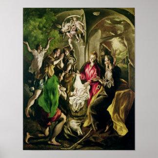 Adoración de los pastores, 1603-05 póster