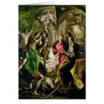 Adoración de los pastores, 1603-05 tarjeta de felicitación