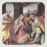 Adoración de los pastores, c.1500 (tempera en la pegatina cuadrada