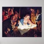 Adoración de los pastores de Gerard van Honthorst Impresiones