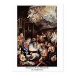 Adoración de los pastores de Guido Reni Postal