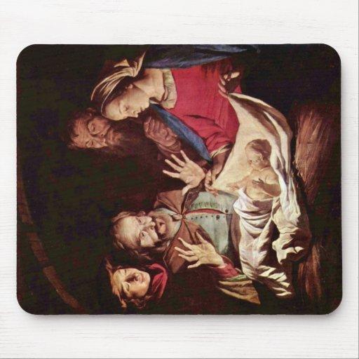 Adoración de los pastores de Honthorst Gerard Van Alfombrilla De Raton