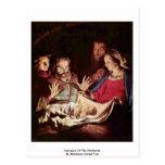 Adoración de los pastores de Honthorst Gerard Van Tarjetas Postales