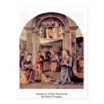 Adoración de los pastores de Pedro Perugino Tarjetas Postales
