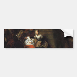 Adoración de los pastores de Samuel Hoogstraten Pegatina Para Auto