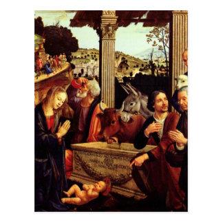 Adoración de los pastores - Domenico Ghirlandaio Postal