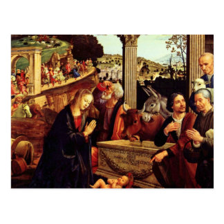 Adoración de los pastores - Domenico Ghirlandaio Tarjeta Postal