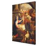 Adoración de los pastores lienzo envuelto para galerias