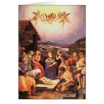 Adoración de los pastores por Bronzino Tarjetón