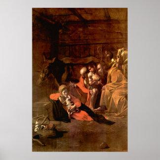 Adoración de los pastores por Caravaggio Impresiones