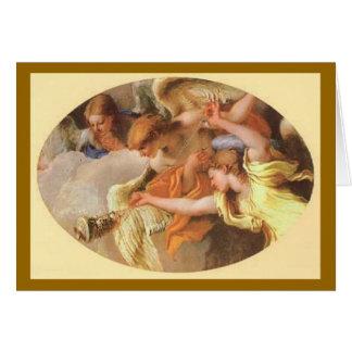Adoración de los pastores - tarjeta de Navidad