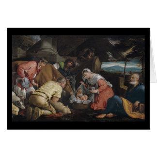 Adoración de pastores tarjeta de felicitación