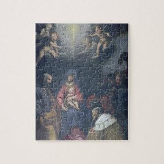 Adoración de unos de los reyes magos, 1629 (aceite puzzles