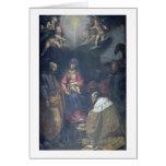 Adoración de unos de los reyes magos, 1629 (aceite tarjeta de felicitación