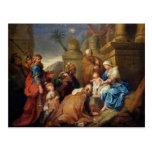 Adoración de unos de los reyes magos 3 tarjeta postal