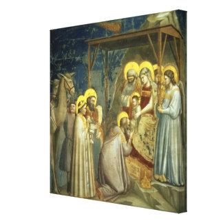 Adoración de unos de los reyes magos, c.1305 impresiones en lona estiradas