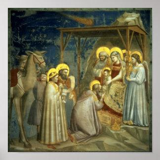 Adoración de unos de los reyes magos, c.1305 poster