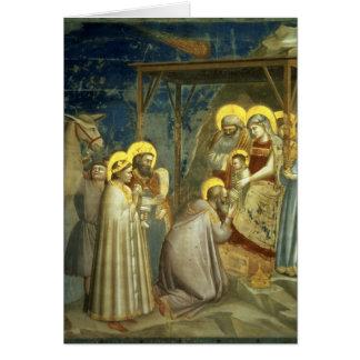 Adoración de unos de los reyes magos, c.1305 tarjeta de felicitación