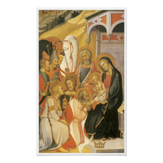 Adoración de unos de los reyes magos, C. 1380 Poster