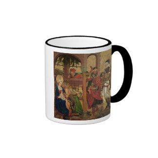 Adoración de unos de los reyes magos, c.1475 taza de dos colores