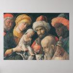Adoración de unos de los reyes magos, c.1495-1505 póster